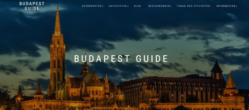 The new design of the Budapest Guide